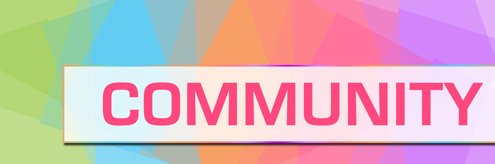 Community Colorful Abstract Background Horizontal
