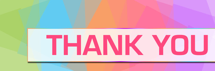 Thank You Colorful Abstract Background Horizontal