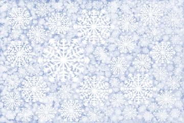 white snowflakes winter background