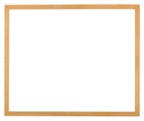 Simple thin wooden picture frame isolated on a white background.