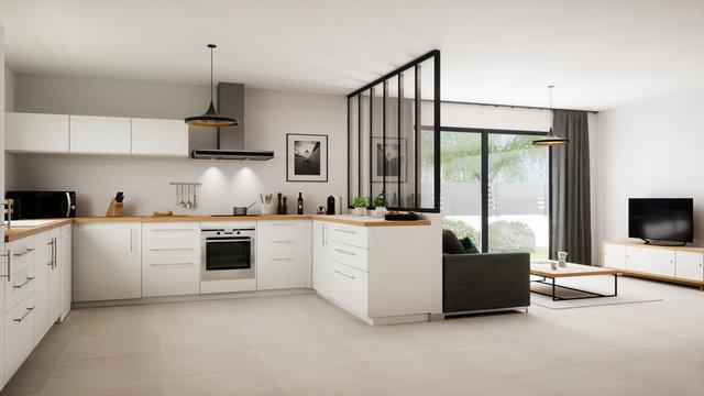 Vue 3d cuisine salon 16_01