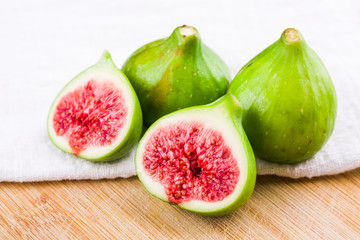 Fresh fig fruit on table, closeup