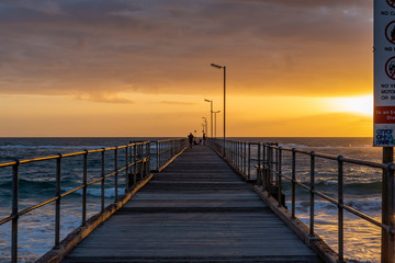 A sunset from on the Port Noarlunga Jetty in Port Noarlunga South Australia on 12th September 2018