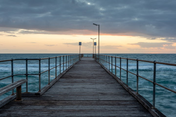 Sunset over the Jetty at Port Noarlunga South Australia on 12th September 2018