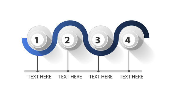 Infographic closed circle in 4 steps