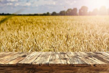 old boards in a beautiful golden grain