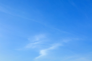View of beautiful blue sky