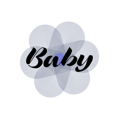 Oh, Baby. Lettering for babies clothes and nursery decorations bags, posters, invitations, cards, pillows . Brush calligraphy isolated on white background. Overlay for photo album.