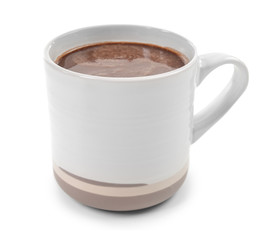 Papiers peints Chocolat Cup of hot chocolate on white background