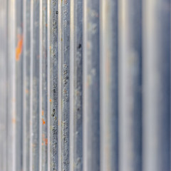 Metal bars close up filling frame square