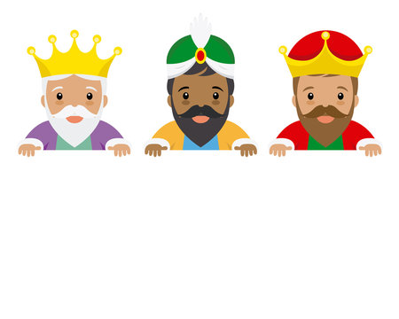The three kings of orient. Space for text