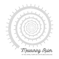 Measuring rulers In the form of a spiral