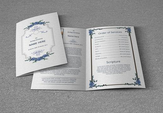 Funeral Program Bi-Fold Layout