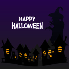 Happy halloween greeting design