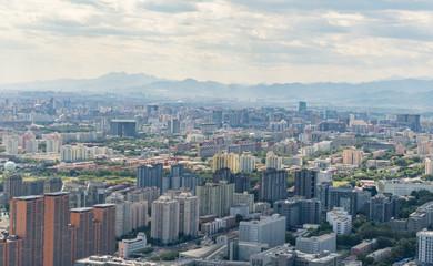 Beijing panorama of apartment houses