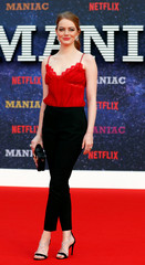 "Actor Emma Stone attends the world premiere of the Netflix mini-series ""Maniac"", in London"