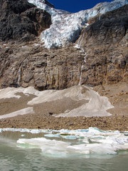 Mount Edith Cavell glacier and lake, Jasper National Park, Alberta, Canada