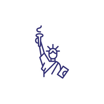 Statue of liberty line icon. Landmark, monument, tourism. New York concept. Vector illustration can be used for topics like independence, freedom, democracy
