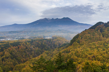 晩秋の開田高原と御嶽山