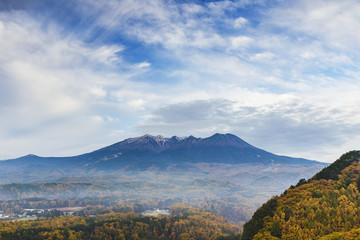 秋の開田高原と御嶽山