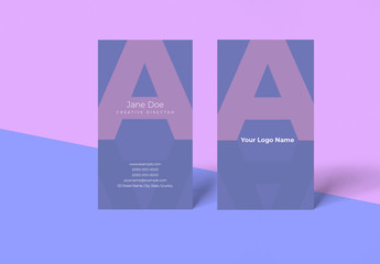 Purple Business Card Layout