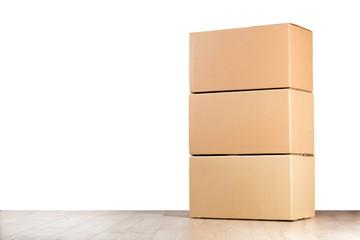 Boxes isolated on white background