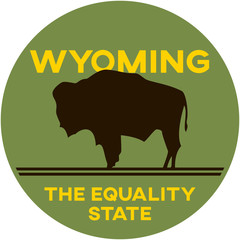 wyoming: the equality state | digital badge