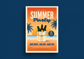 Summer Beer Party Flyer Layout