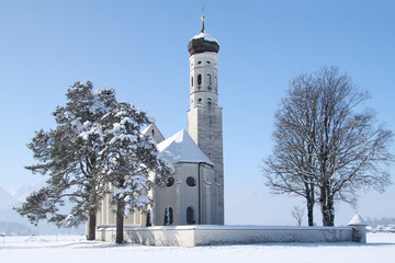 Little church in winter