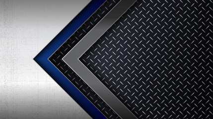 Stainless steel metal panel with diamond plate pattern