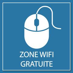 Logo zone wifi gratuite.