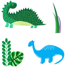 Cartoon dinosaurs vector illustration monster animal dino prehistoric character reptile predator jurassic fantasy dragon