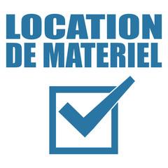 Logo location de matériel.