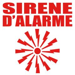 Logo sirène d'alarme.