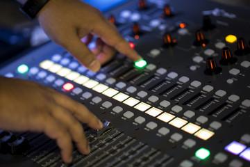Stüdyo müzik kaydı sürgüleri çubuk düğmeleri ses kartı,eğlence