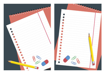 Notebook vector. Template for greeting cards and various designs.