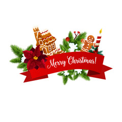 Christmas cookie on holiday garland
