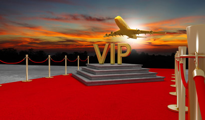 Red carpet Private jet with a Luxury vip