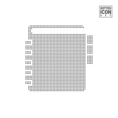 Bookmark Book Dot Pattern Icon. Library or Bookstore, Dictionary Mark Dotted Icon Isolated on White. Vector Background, Design Template. Can Be Used for Advertising, Web and Mobile UI.
