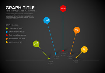 Colorful Droplet Pins Infographic Layout