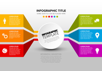 Colorful Content Blocks Infographic Layout