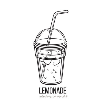 lemonade icon outline