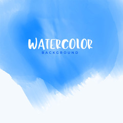 abstract blue watercolor background design