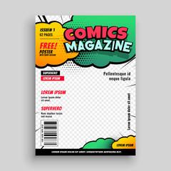 comic book cover page template design