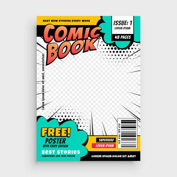 comic book page cover design concept