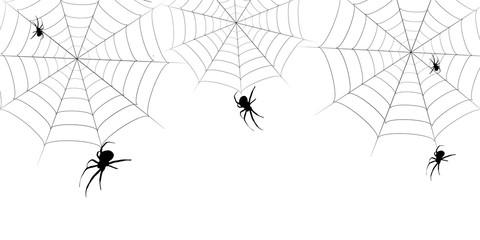 ハロウィン クモ 秋 背景