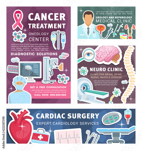 cancer urology and nephrology medical posters stock image and