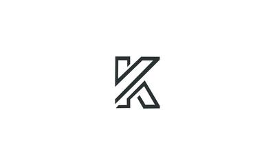 abstract K logo vector