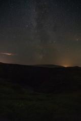 Aurora and stars in Iceland summer