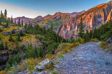 Beautiful Sunset Fall Hike in Telluride, Colorado